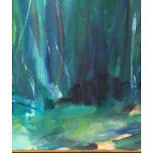 "Vintage Wall Art - ""Forrest"" 1970s Original Abstract Landscape"